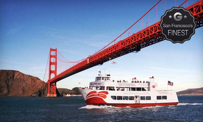 Red and White Fleet - Fisherman's Wharf: $29 for a California Twilight Holiday Cruise on the Bay from Red and White Fleet ($58 Value)