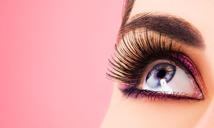 Partial Eyelash Extensions or Full Eyelash Extensions with 1 or 2 Touchups at April's Aesthetics (Up to 75% Off)