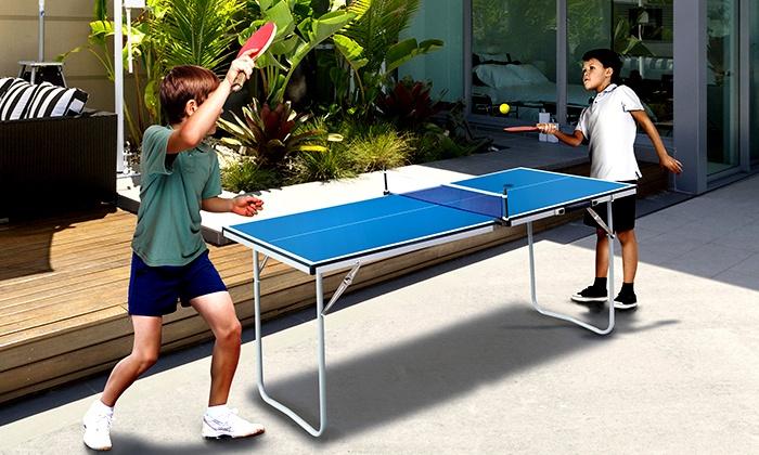 foldable mini table tennis table | groupon goods