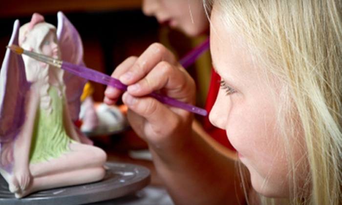 Paint A Dream - Multiple Locations: $10 for $20 for Two or $25 for $50 for Four for Pottery Painting at Paint A Dream