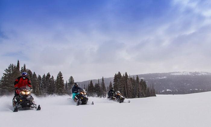 The Cabins at Bear River Lodge - Christmas Meadows, Utah: 1- or 2-Night Stay in a Cabin for Up to Six, or Snowmobile Rental at The Cabins at Bear River Lodge in Summit County, UT