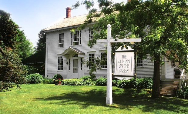 TripAlertz wants you to check out 2-Night Stay for Two with Meal Package at The Old Inn on the Green in New Marlborough, MA 18th-Century Inn Amid Berkshire Hills - Historic New England Inn