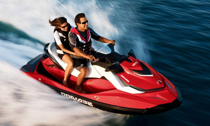 Vancouver Water Adventures - Granville Island : 2.5-Hour Tandem Jet Ski Ocean Is Yours Tour for Two from Vancouver Water Adventures (Up to 46% Off)