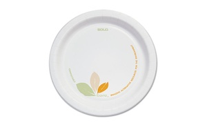 "1 Carton Of Solo Bare Paper 6"" Dinner Plates (500 Plates)"