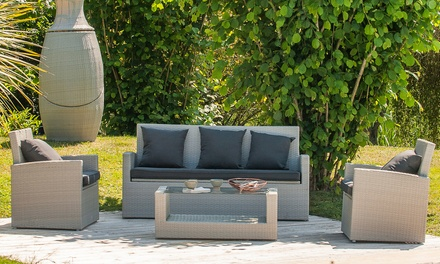 Salon De Jardin Luxe Hamptons Resine Tressee 7 Places Deals Et