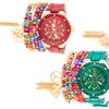 Arm Candy Anchor Watch and Boho Bracelet Set