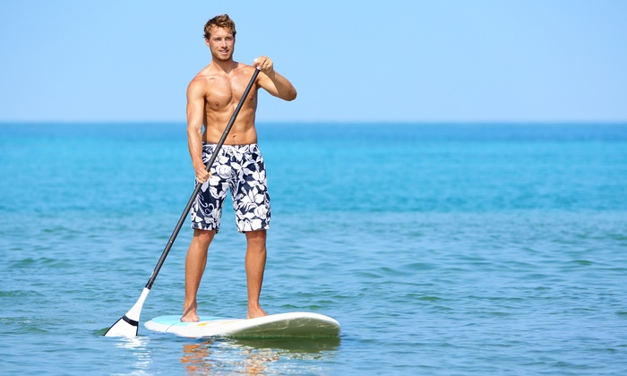Michigan Wet N Wild - Downtown Walled Lake: 60-Minute Equipment Rental with Standup-Paddleboard Lesson for One or Two at Michigan Wet N Wild (Up to 31% Off)