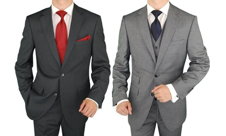 Men's Custom-Wardrobe Packages at Moda Italia (Up to 75% Off). Three Options Available.