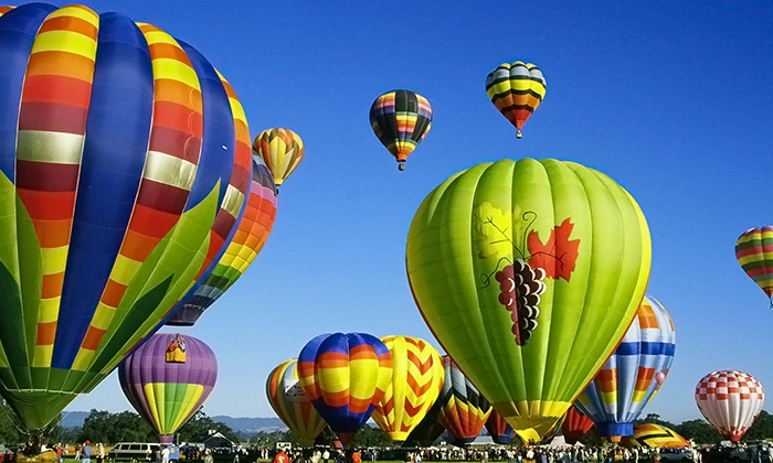 Wine Country Balloons - Santa Rosa: $179 for a Hot Air Balloon Flight for One with Champagne Toast from Wine Country Balloons ($235 Value)