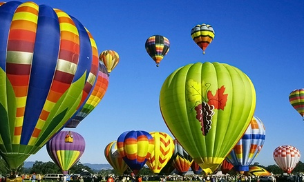 $153 for a Hot Air Balloon Flight for One with Champagne Toast from Wine Country Balloons ($235 Value)