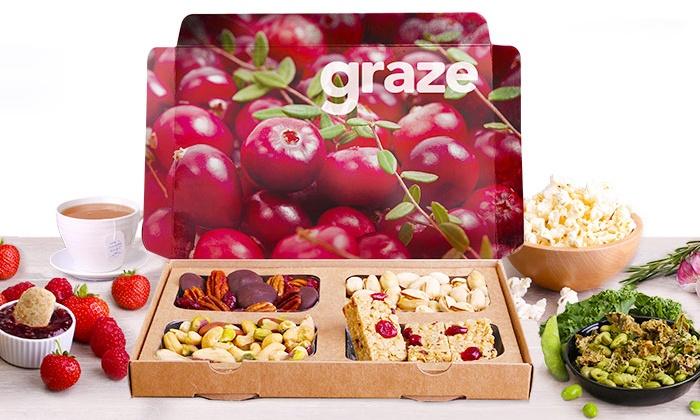 graze.com: $14 for Four Snack-Box Deliveries from graze.com ($27.96 Value)