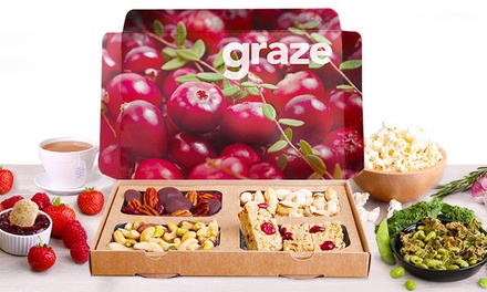 $14 for Four Snack-Box Deliveries from graze.com ($27.96 Value)