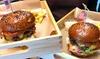 Saska Kępa: burger z frytkami