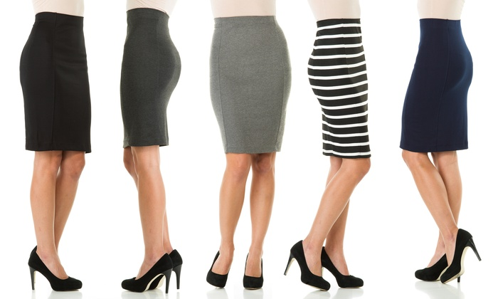 Sociology Knee-Length Pencil Skirt (Sizes M & L) | Groupon