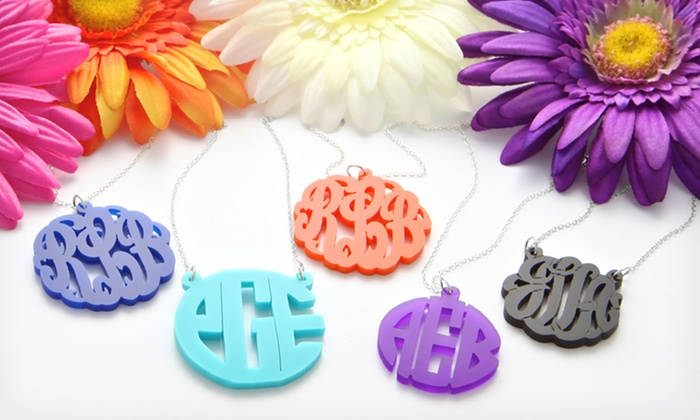 $24.99 for an Acrylic Monogram Necklace with a Sterling Silver Chain ($79 List Price). Free Shipping.