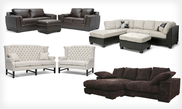 Baxton Studio Sectional-Sofa Sets: Baxton Studio Sectional-Sofa Sets (Up to 57% Off). Six Sets Available.