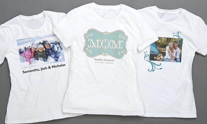 cca8c79d Vistaprint Custom T-Shirts | Groupon Goods