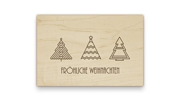 wertgutschein holz postkarte deco wizards groupon. Black Bedroom Furniture Sets. Home Design Ideas