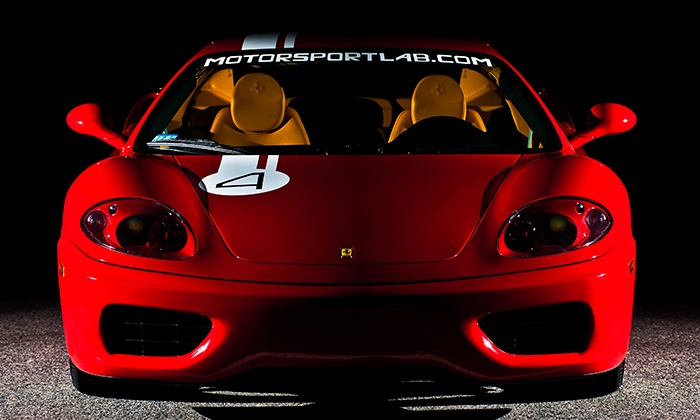 The Motorsport Lab - Greensboro Coliseum - Greensboro: Three- or Six-Lap Lamborghini or Ferrari Agility Autocross Experience from The Motorsport Lab (Up to 82% Off)