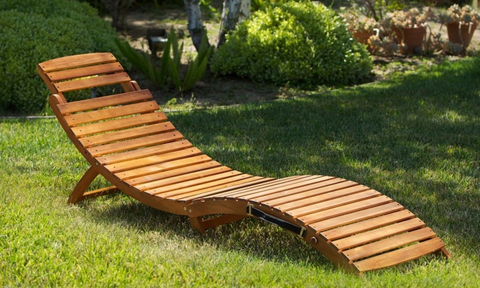 For an outdoor wood chaise lounge groupon for Acacia wood chaise lounge