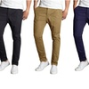 Galaxy By Harvic Men's Slim-Fit Cotton Stretch Chino Pants