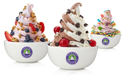 $12 for Four Groupons, Each Good for $5 Worth of Frozen Yogurt at Yogurt Mountain ($20 Total Value)