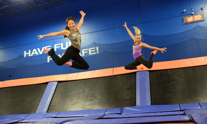 Sky Zone Indoor Trampoline Park - Multiple Locations: Six-Month Jump Pass at Sky Zone Indoor Trampoline Park (Up to 75% Off)