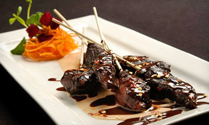 Fude Inspired Cuisine & Wine Bar - Mcmillan: Seasonal Appetizers and Drinks for Two at Fude Inspired Cuisine & Wine Bar (Up to 56% Off). Two Options Available.