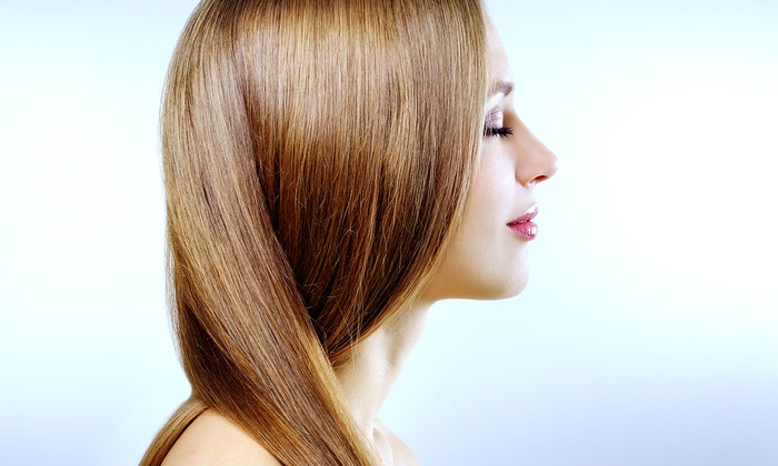 A Shear Distinction - Wilmington: Haircut with Option of Partial Highlights, or a Brazilian Blowout at A Shear Distinction (Up to 60% Off)