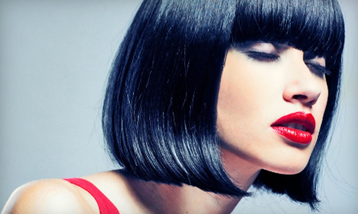 Heavenly Edge - Bridlewood - Emerald Meadows: Haircut Package with Style, Deep Condition, and Optional Partial Highlights at Heavenly Edge in Kanata (Up to 63% Off)