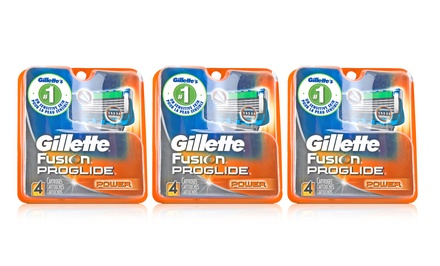 Gillette Fusion ProGlide Power Razor Heads; 3-Pack of 4ct. Boxes + 5% Back in Groupon Bucks