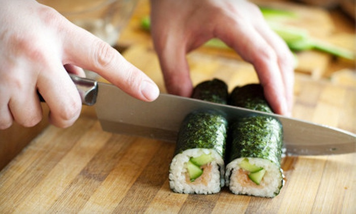 Birmingham Sushi Classes - Birmingham: Sushi-Making Class for One, Two, or Four with Complimentary Snacks and Rolls at Birmingham Sushi Classes (52% Off)