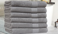 Economic Collection 6-Pack 100% Cotton Low-Twist Oversize Bath Towels (Several Colors)