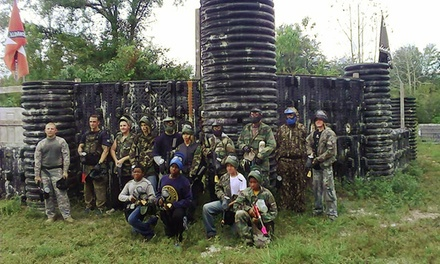 Paintball Package with Equipment Rental, Air, and Paintballs for Two or Four at Splatman Paintball Park (Up to Half Off)