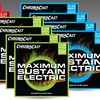 ChromaCast Electric or Acoustic Guitar Strings 4-Pack