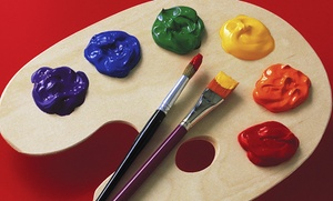 Museo Art Academy: Pizza & Picasso Workshop for 1 or 2 Kids or BYOB Painting Party for 6 Adults at Museo Art Academy (57% Off)