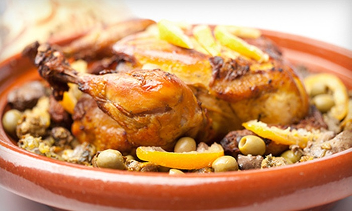 Zitoune - Mamaroneck: Three-Course Moroccan Dinner with Wine for Two or Four (Up to 56% Off)