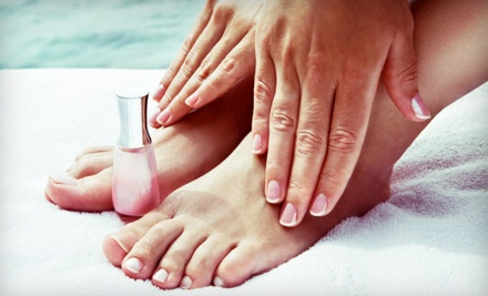 Manicure with Pedicure or Blowout at Perfection Hair Salon and Barber Shop (Half Off)