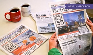 "The Tampa Tribune LLC: Subscription to ""The Tampa Tribune"" / ""The St Petersburg Tribune"" (Up to 82% Off). Four Options Available."