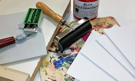 BYOB Holiday-Card-Printing Class for One or Two at Urban Oil Ceramics (Up to 51% Off)
