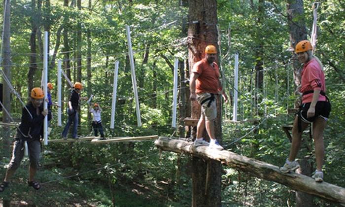 Adventureworks - Kingston Springs: $70 for an Aerial Trekking Course Adventure for Two at Adventureworks ($130 Value)