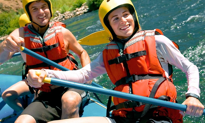 Sunburst Adventures - Benton: Whitewater Rafting on the Ocoee River from Sunburst Adventures (Up to 61% Off). Four Options Available.