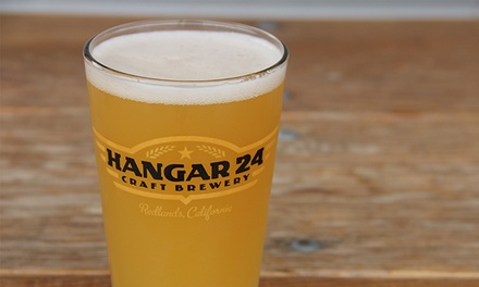 Beer Flights with Souvenir Pint Glasses for Two or Four at Hangar 24 Craft Brewery (46% Off)