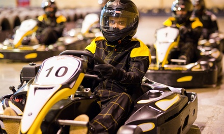 30-Minute Karting Experience with Unlimited Laps and Pizza for Two, Four or Six at Absolutely Karting Basingstoke