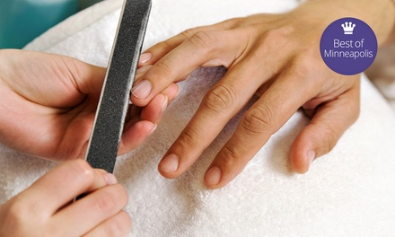 Organic Mani-Pedi with Optional Take-Home Bottle of Moisturizer at Accolades Salon Spa (Up to 55% Off)