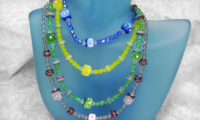 Bead Bar - College Park: Beginners' Jewelry-Making Class with a Necklace Kit for One or Two at Bead Bar (Up to 54% Off)
