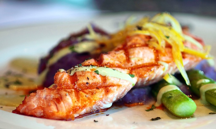 Acquabar Bistro and Lounge - Belltown: Seafood and American Food at Acquabar Bistro and Lounge (Up to 52% Off). Two Options Available.