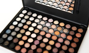 Beauté Basics Warm 88-color Eye-shadow Palette With Dual-end Foam Applicator