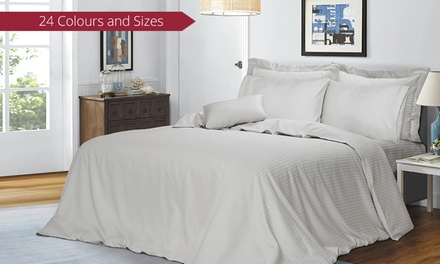 1,000TC Six Piece Cotton Sheet and Quilt Cover Bedding Set: Queen ($69) or King ($79)