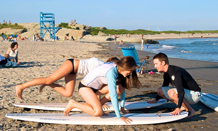 Rhody Surf - Middletown: Surfing Lesson for Two or Three from Rhody Surf (Up to 55% Off)